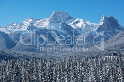 Winter scene of Mount Lougheed 02
