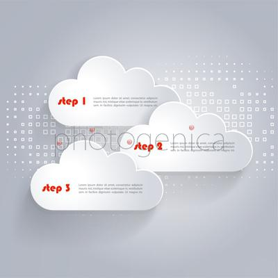 Vector Network clouds with place for text and technology background