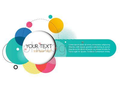 Vector Modern Design Circle template for infographics