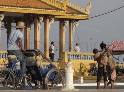 Scenka uliczna, Phnom Penh