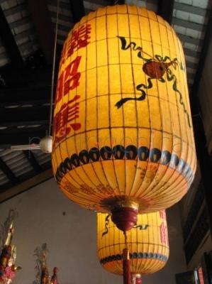 Lampion w chińskiej świątyni