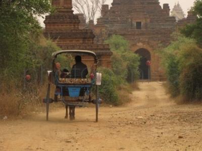 Powóz w Bagan