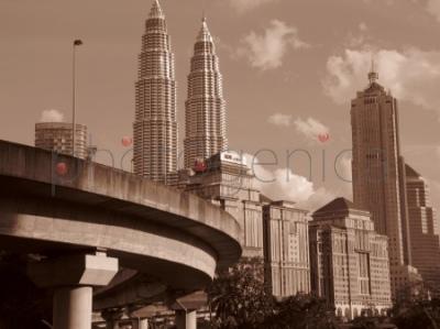 Widok na Petronas Towers