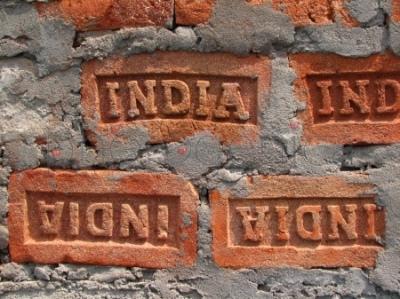 Cegły z napisem India